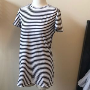 STRIPED T MINI DRESS